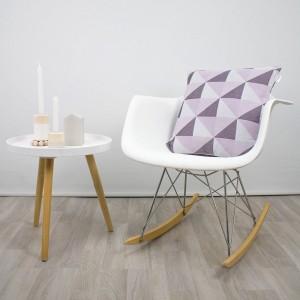 Funda de cojín Nordic triángulos rosa
