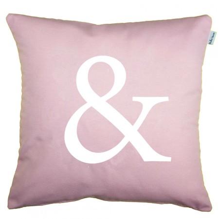 Funda cojín Ampersand rosa cuarzo