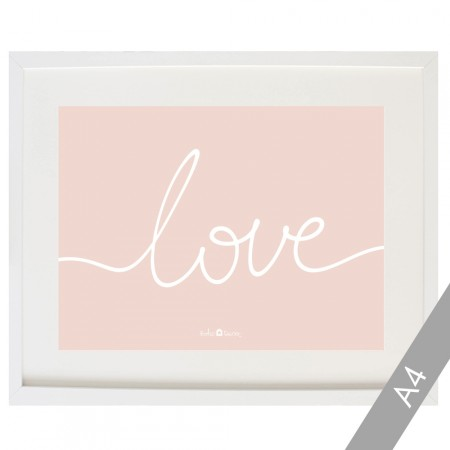 Lámina Love rosa