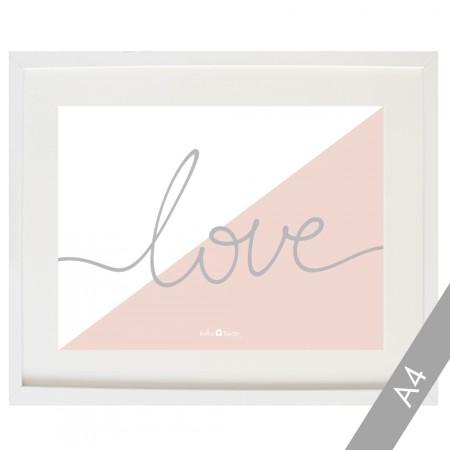 Lámina Love bicolor rosa