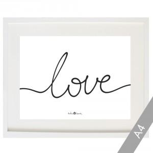 Lámina Love blanco & negro