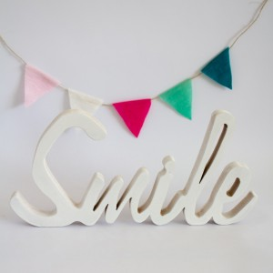Letra Smile Blanco