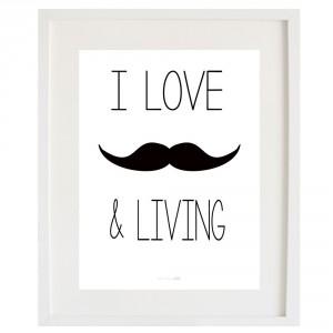 Lámina Moustache