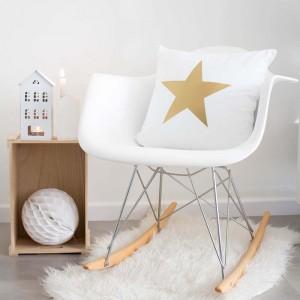 Funda cojín Estrella Dorada