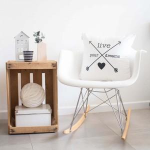 White Arrows cushion