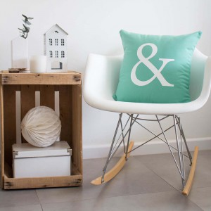 Mint Ampersand cushion