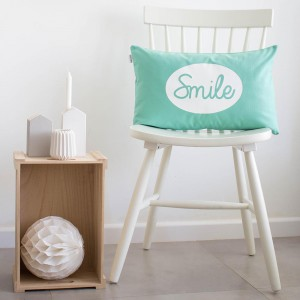 Mint Smile cushion