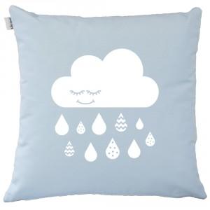 Baby blue cloud cushion