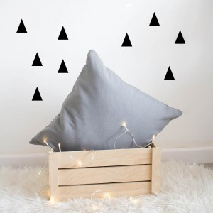 Vinilo Triángulos Negro