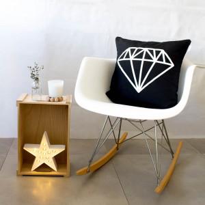 Funda de cojín Diamante Negro