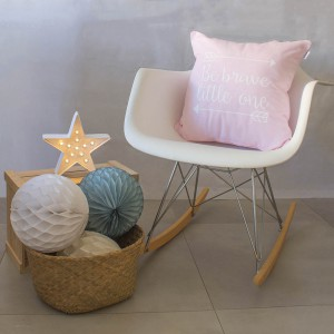 Baby pink brave cushion