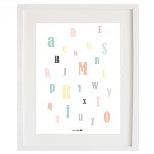 Lámina ABC pastel