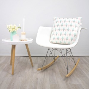 Pastel rhomb cushion