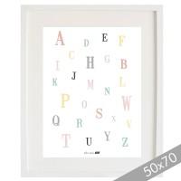 Cardboard ABC pastel XXL