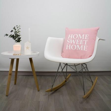 Funda cojín Home Sweet Home rosa