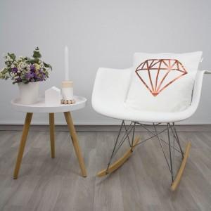 Mustard diamond cushion