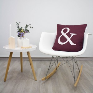 Bordeaux Ampersand cushion