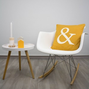 Mustard ampersand cushion