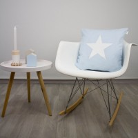Baby blue Star cushion