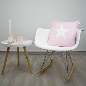 Baby pink Star cushion