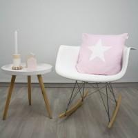 Baby pink Star cushion