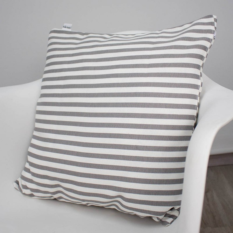 Grey stripes cushion boho deco shop - Cojines de rayas ...