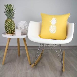 Funda de cojín Piña colada amarillo