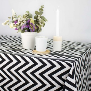 Black & white Chevron tablecloth