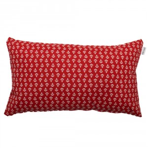 Red anchors cushion 30x50