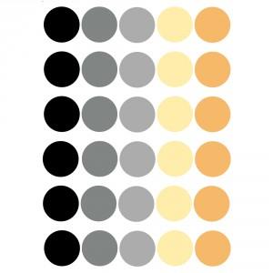 Dots vinyl in mustard