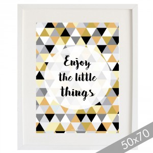 Lámina Enjoy the little things mostaza XXL