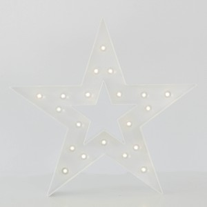Estrella con luz led