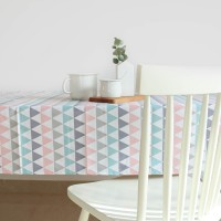 Pastel triangles tablecloth
