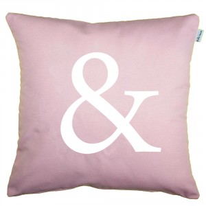 Quartz pink Ampersand cushion