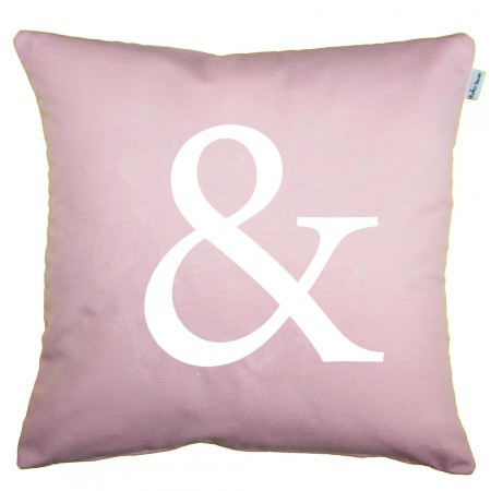 Quartz pink Ampersand cushion