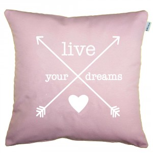 Quartz pink Arrows cushion