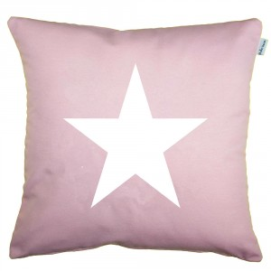 Coral pink star cushion