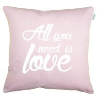 Funda cojín All you need is Love rosa cuarzo