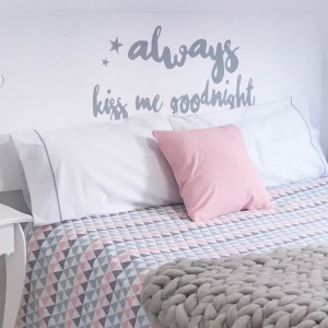 Headboard Always kiss me goodnight
