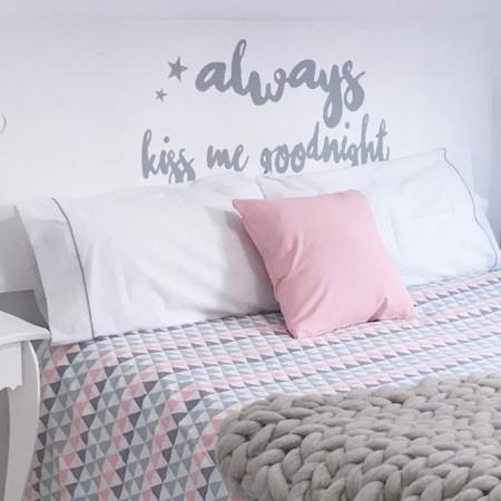 Headboard Always kiss me goodnight - Boho Deco Shop