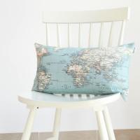 World map cushion 30x50