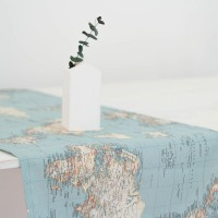 World map Table runner