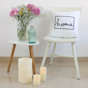 Funda cojín Home design Blanco