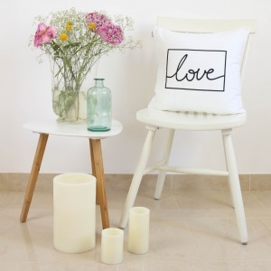White Love design cushion