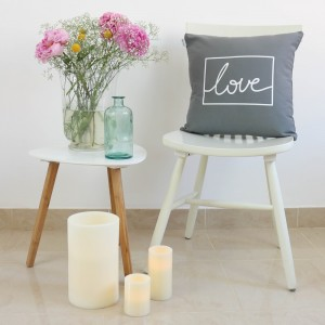 Grey Love design cushion