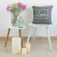 Funda cojín Love design gris