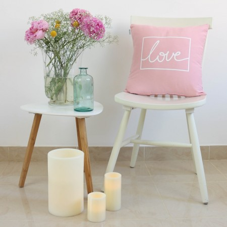 Funda cojín Love design rosa