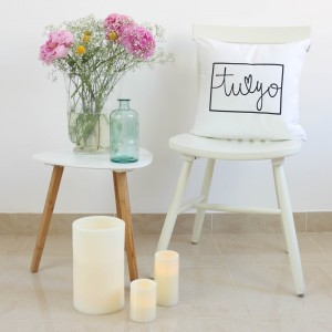 White You and Me design cushion