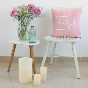 Pink You and Me design cushion