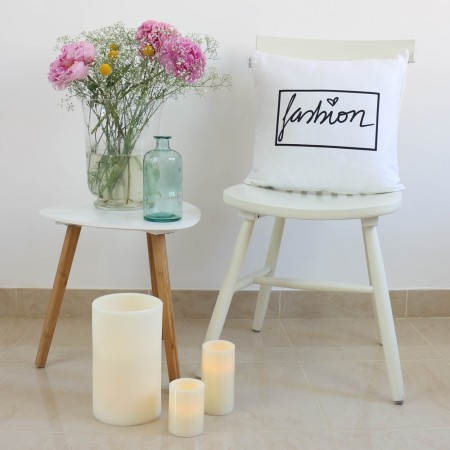 White Fashion design cushion
